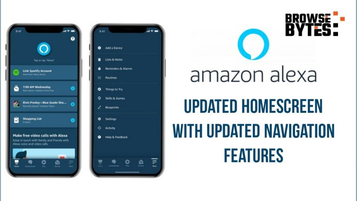 Amazon Alexa App Gets Updated Homescreen With Updated Navigation Features