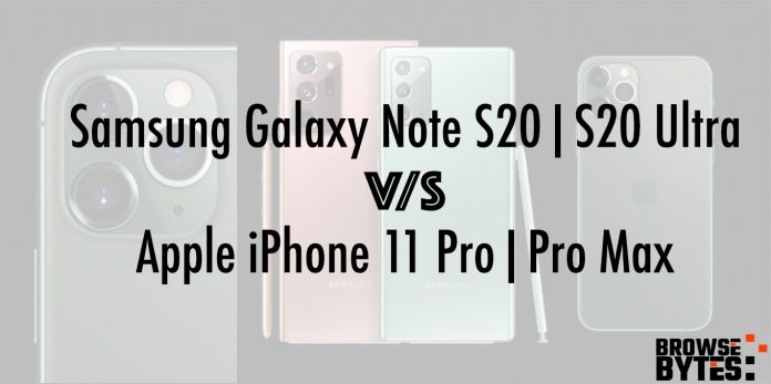 samsung-galaxy-note-20-ultra-versus-apple-iphone-11-pro-India-browsebytes
