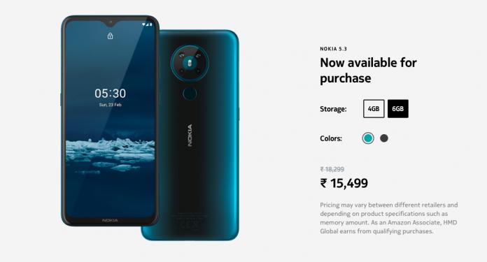 nokia-5.3-price-specs-india-sale-amazon-browsebytes